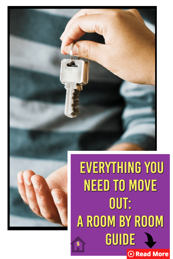 Wondering if you have everything for your first home? Here is a detailed guide to everything you need to move out room by room. | Home owner #Firsthome #moving #movingout #firstplace #Millennials |
