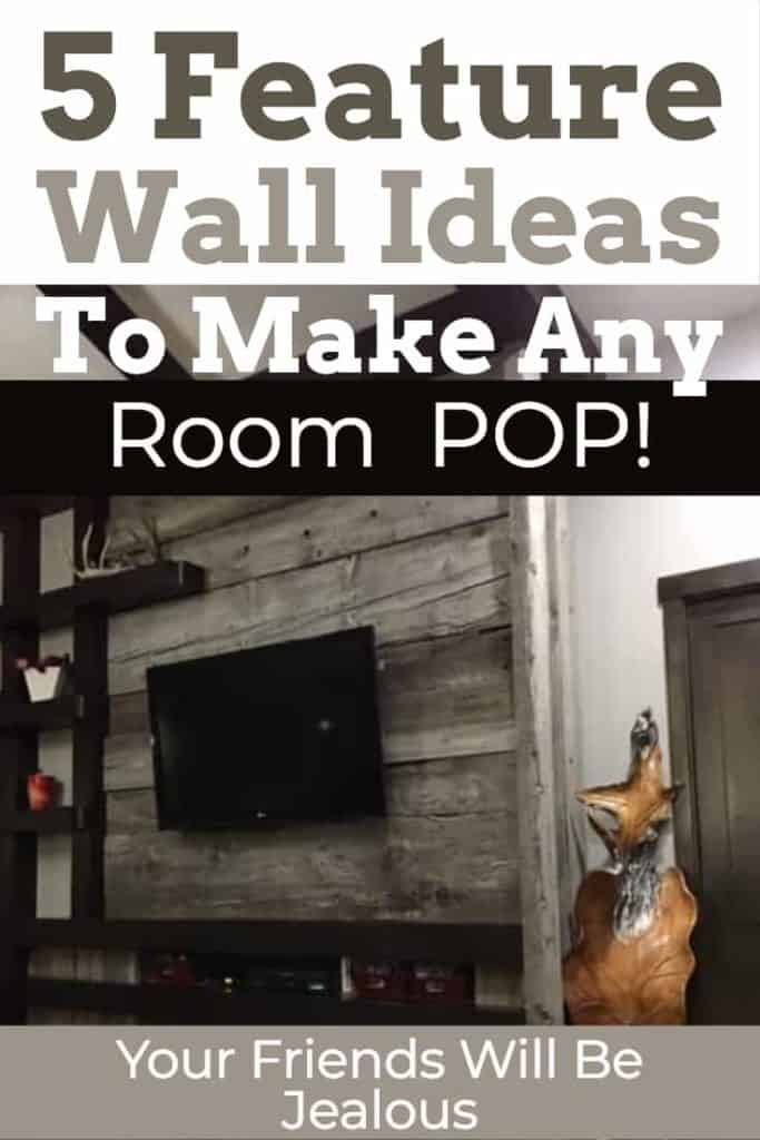 5 Feature wall ideas that will have your friends drooling of your room! | Home Decor |Feature Wall | Barnwood |