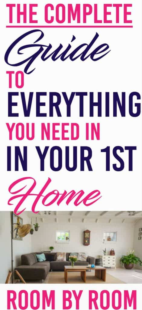 Detailed guide to everything you need to move out room by room. | Home owner | First place | Millennials |