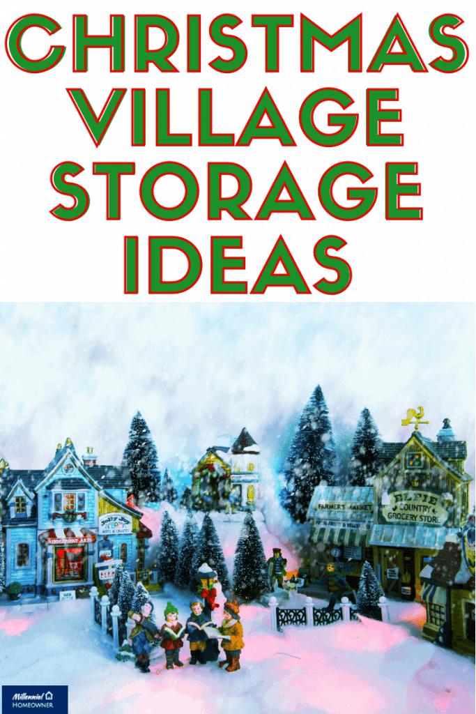 christmas village storage ideas