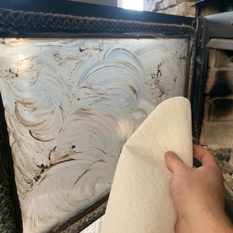 Step 5 to Cleaning Fireplace Glass