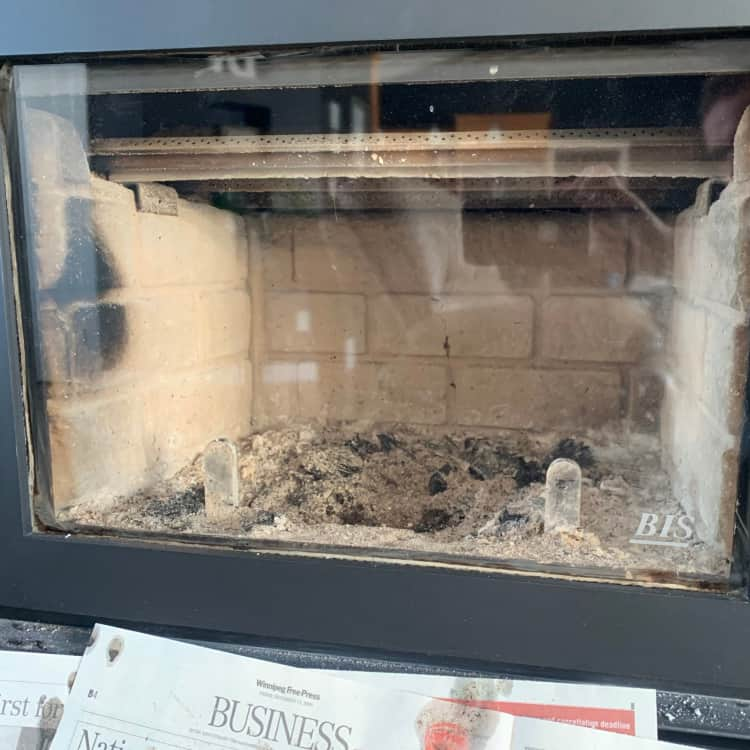 clean fireplace glass
