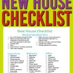new house checklist