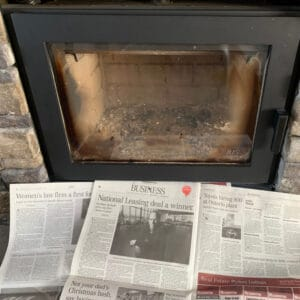 cleaning fireplace glass