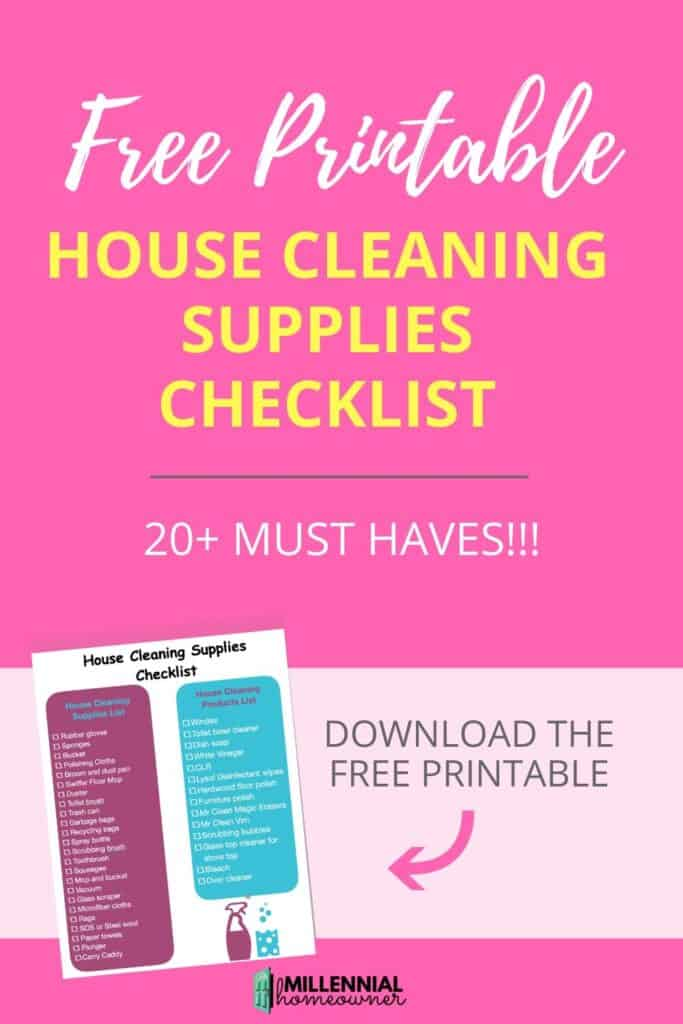 The House Cleaning Supplies Checklist (You Must Have These)