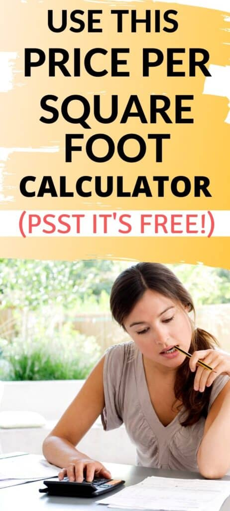 Price per Square Foot Calculator