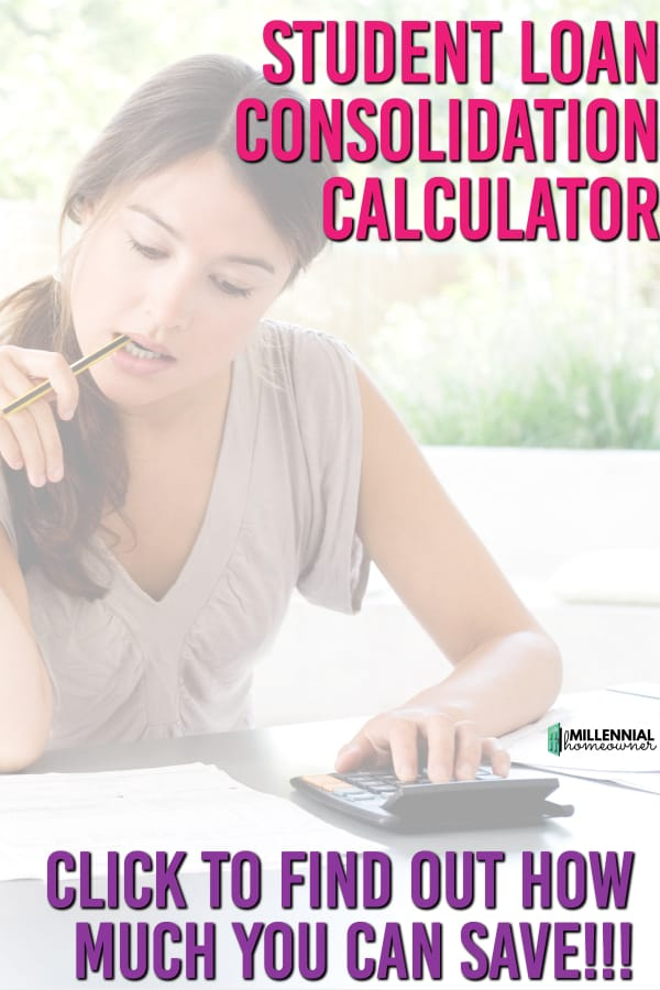 Student Loan Consolidation Calculator