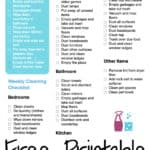 House Cleaning Checklist (free printable)