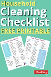 household cleaning checklist