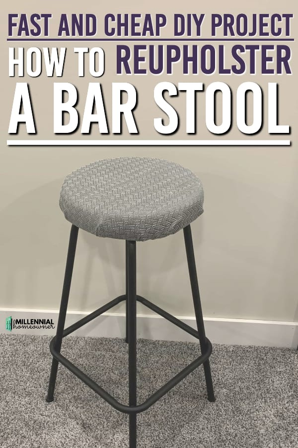 How to reupholster a bar stool (1)