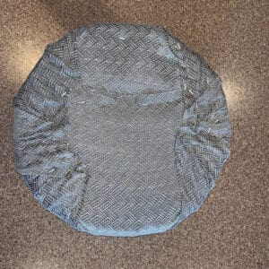 bar stool fabric underneath