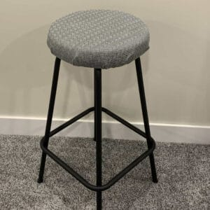 finished reupholstered bar stool