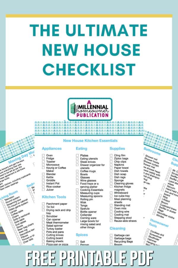 liste de contrôle de la première maison