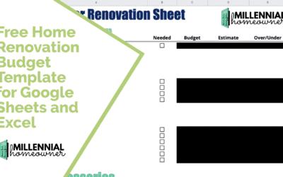 Free Home Renovation Budget Template