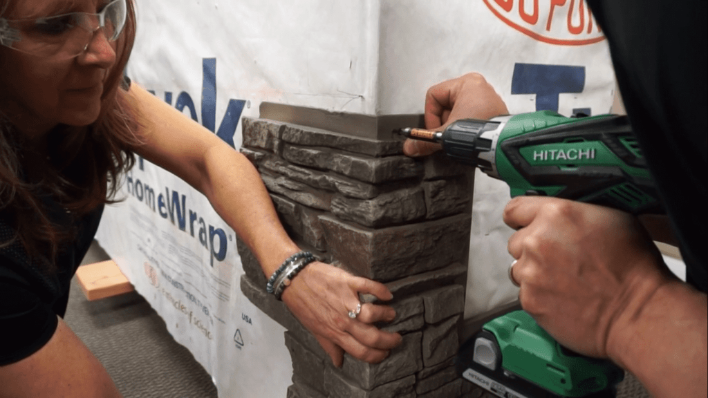 How to Install a Stone Veneer Fireplace Step 7