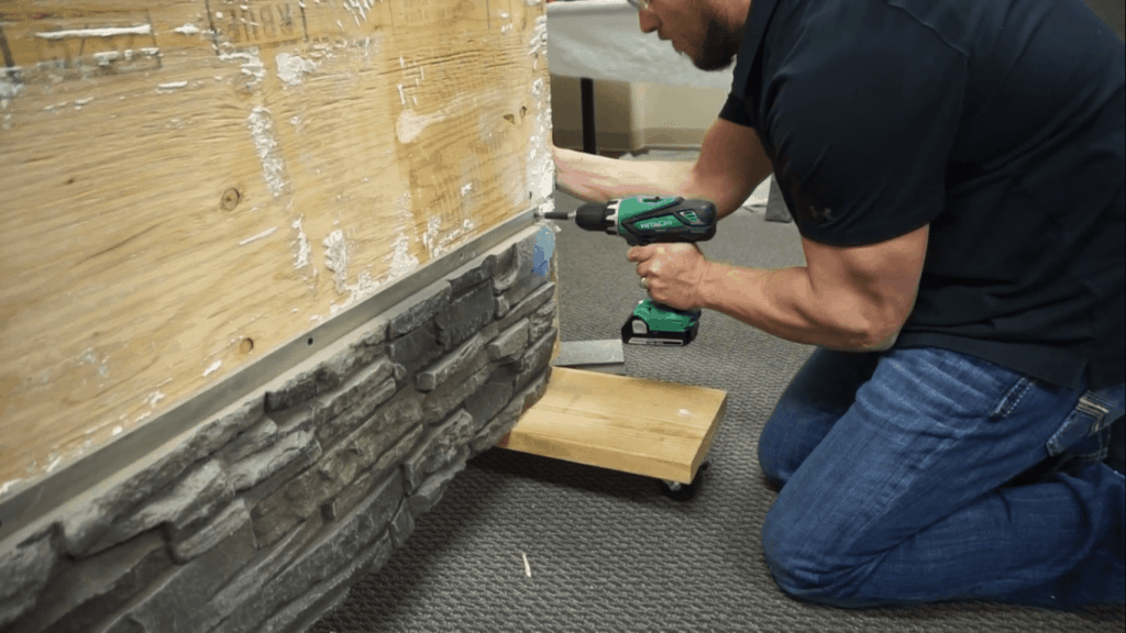How to Install a Stone Veneer Fireplace Step 7.2