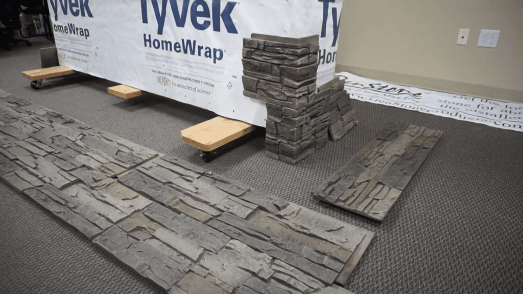 How to Install a Stone Veneer Fireplace step 3