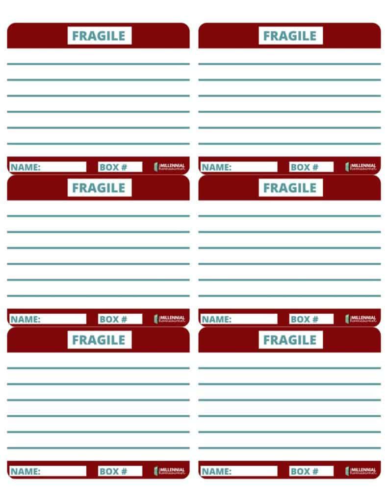 Fragile moving labels