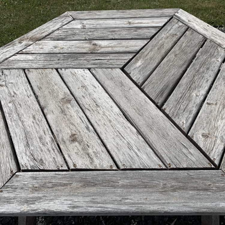before restaining a picnic table