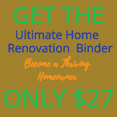 home renovation binder