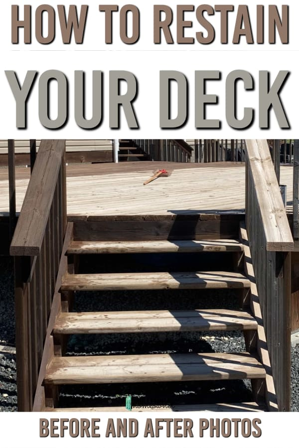 restaining a deck before and after photos