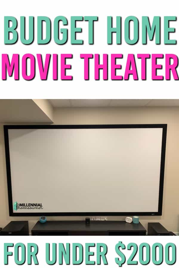 home movie theater on a budget