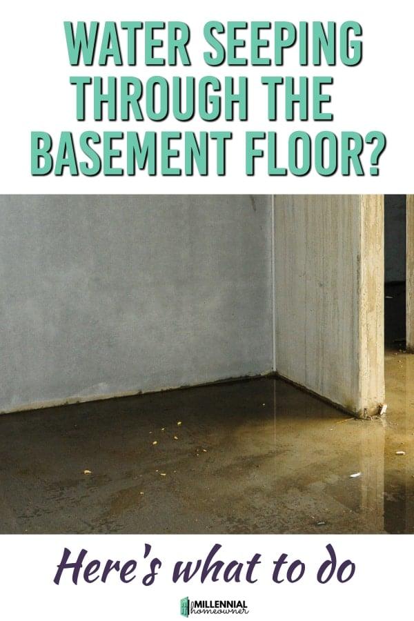 Water Seeping through the Basement floor