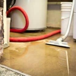 damp basement standing water