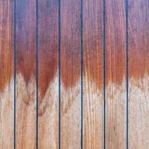 water damage wood floor sanding and staining