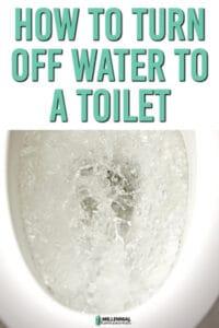 water valve on toilet