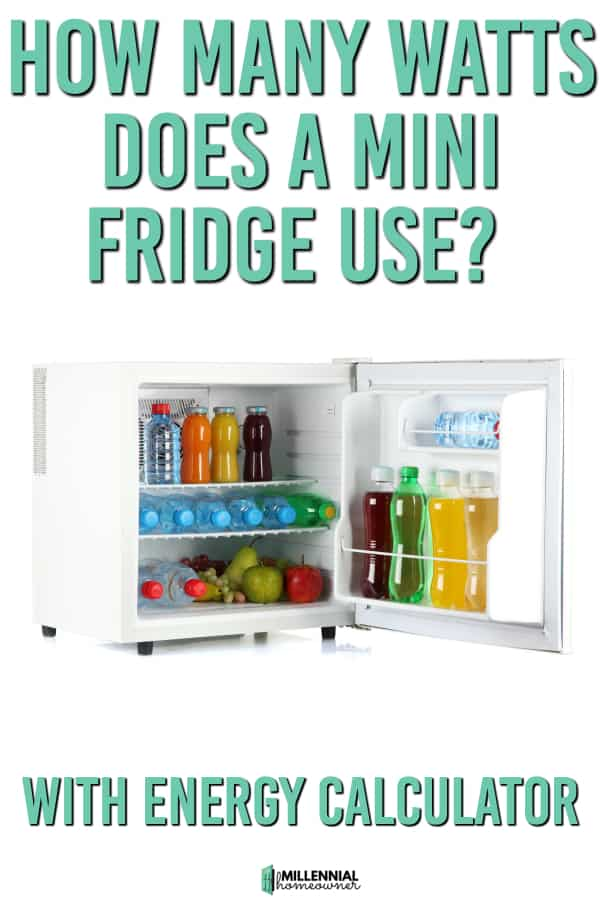 energy use of a mini fridge
