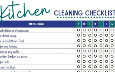 Kitchen Cleaning Checklist (Daily, Weekly, Monthly Cleaning Schedule)
