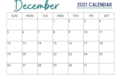 Free December Calendar Printable