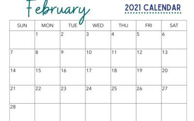 Free February Calendar Printable