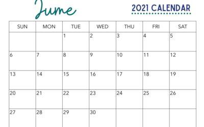 Free June Calendar Printable