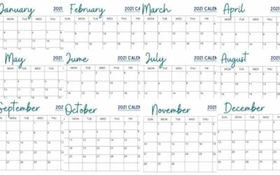 Free Full Calendar Printable