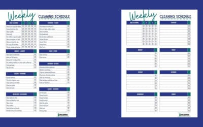 Weekly Cleaning Schedule (Free Printable Checklist Template)