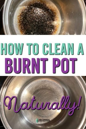 how to clean burnt pot
