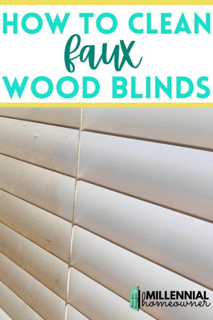 how to clean faux wood blinds pinterest