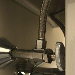 bathroom sink shut off valve