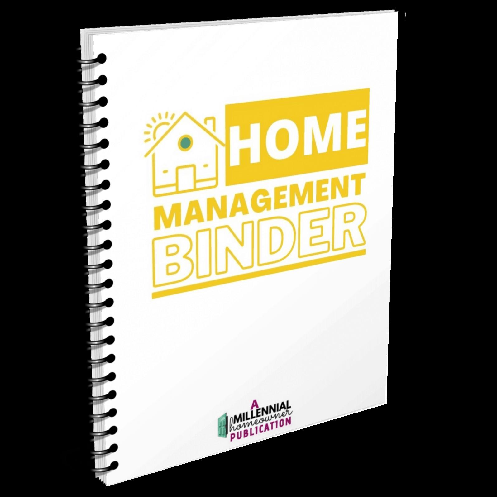 Home Management Binder Mock up