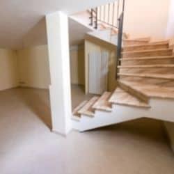 empty finished basement