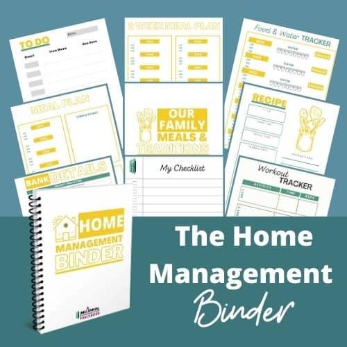 home binder feature sheet