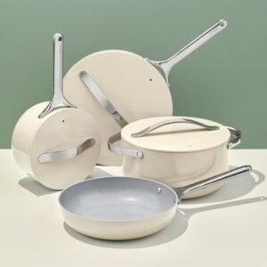 caraway ceramic cookware cream