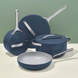 caraway ceramic cookware navy