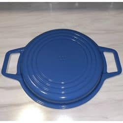 misen cast iron grill blue back